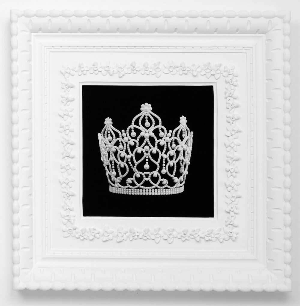 Small Dream Crown #6,  2009  Photograph in archival ink on watercolor paper, in artist's  Royal Narcissus Icing  frame  24 x 24 inches