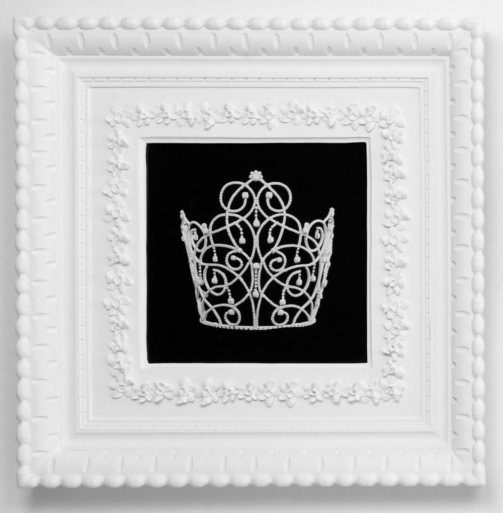 Small Dream Crown #7,  2009  Photograph in archival ink on watercolor paper, in artist's  Royal Narcissus Icing  frame  24 x 24 inches