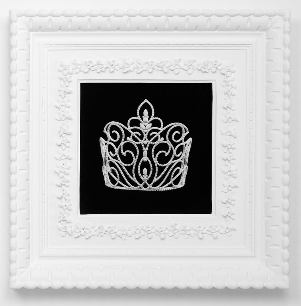 Small Dream Crown #9,  2009  Photograph in archival ink on watercolor paper, in artist's  Royal Narcissus Icing  frame  24 x 24 inches