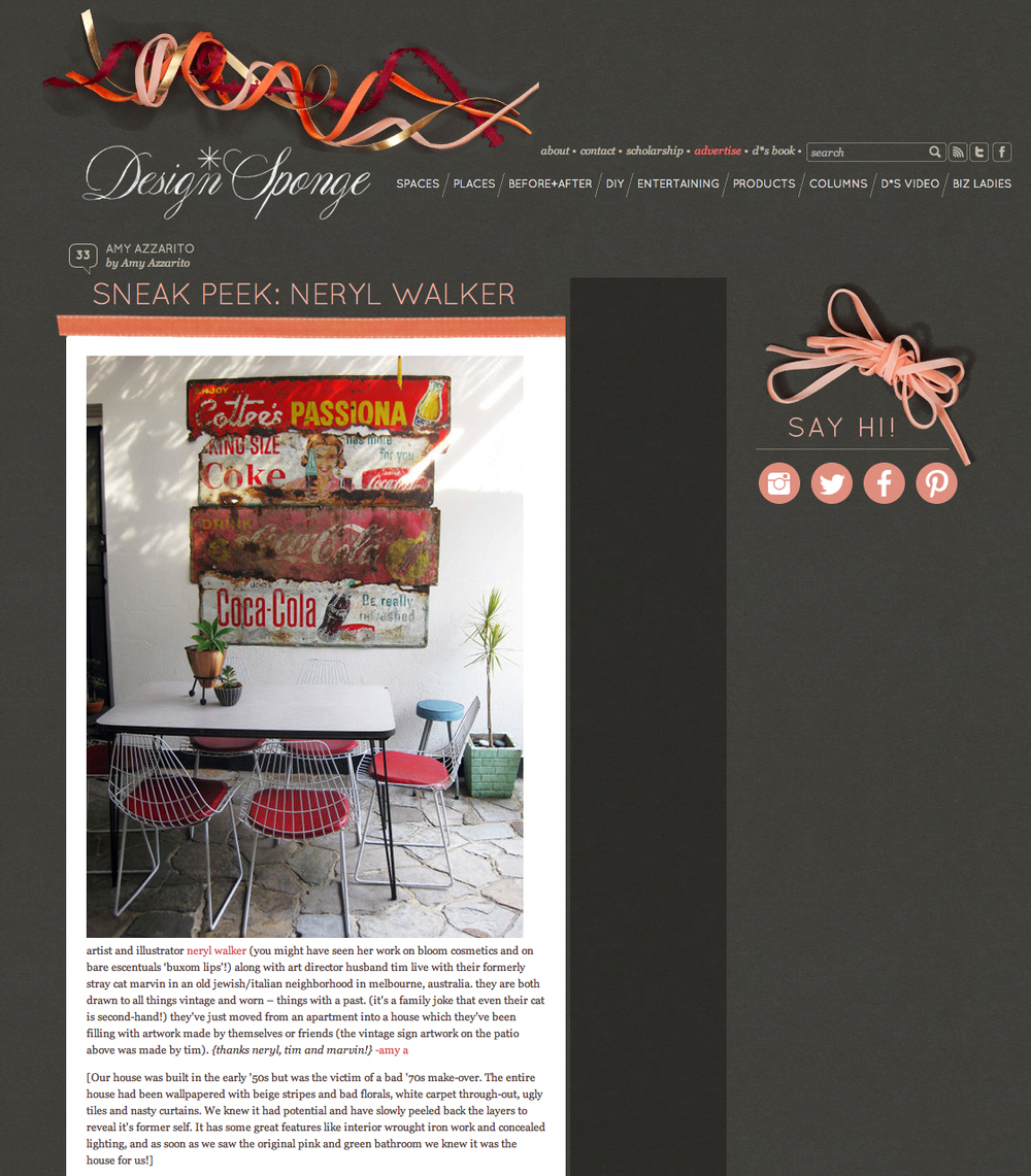 Design Sponge Sneak Peek - click to read