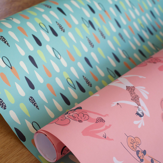 Fabric and gift wrap available here.