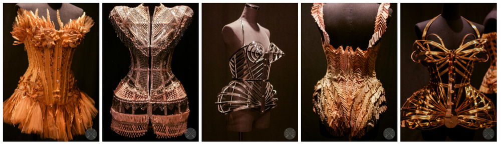 Black Swan collection corsets- Photo by www.culturalchromatics.com The first one had wheat woven into it.