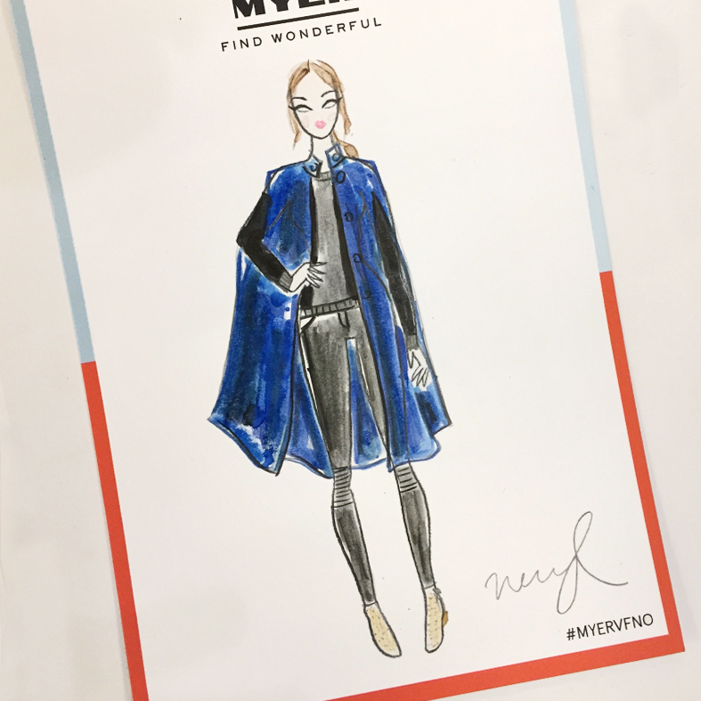 fashion illustration ootd myer vogue