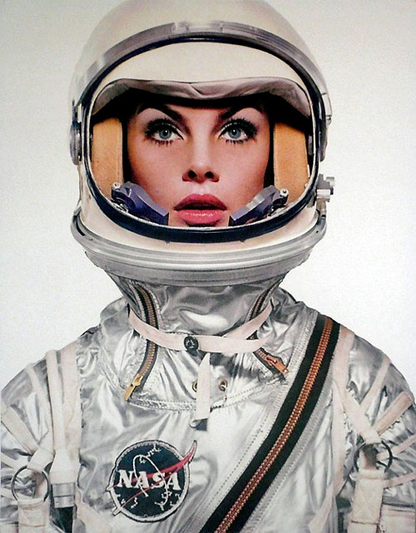 Jean Shrimpton in a space suit.Richard Avedon. Harpers Bazaar 1965.
