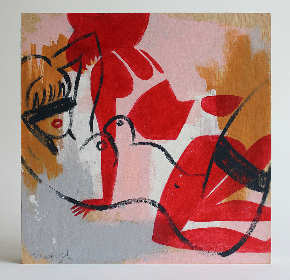 Pleasure Seekers Acrylic on plywood 28 x 28cm