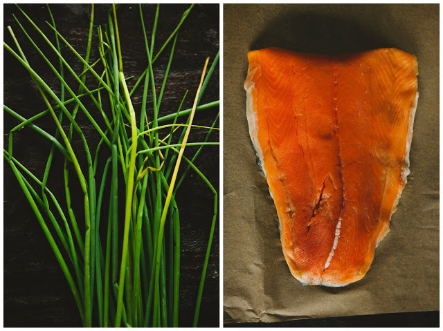 Chives and Salmon