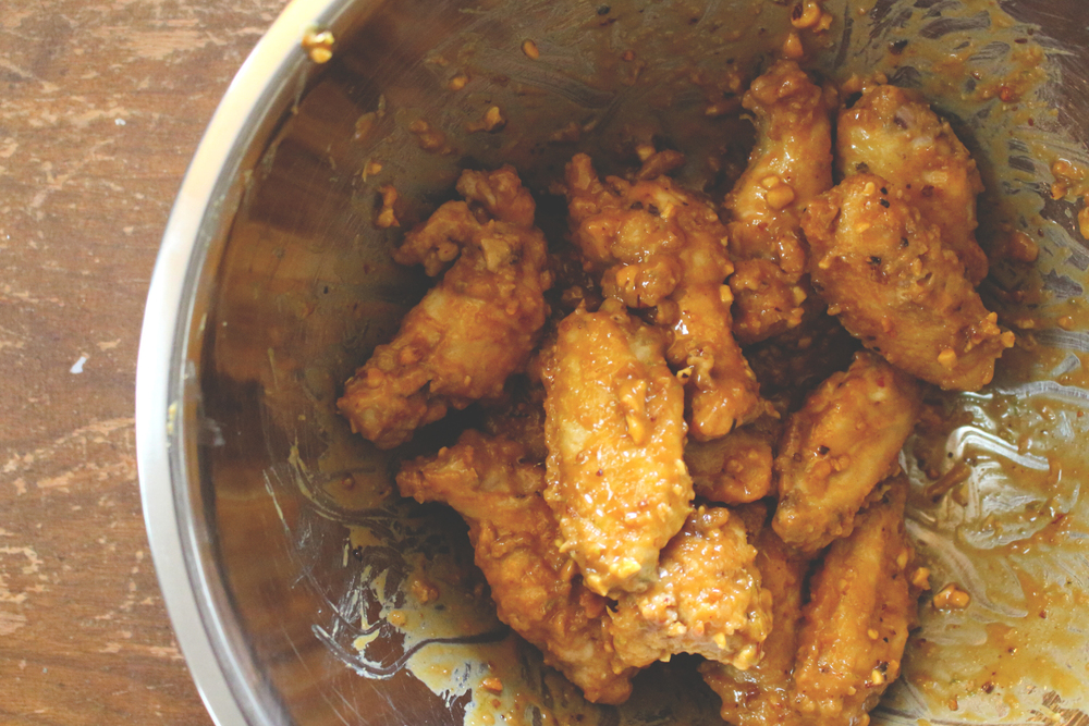 Spicy Peanut Chicken Wings