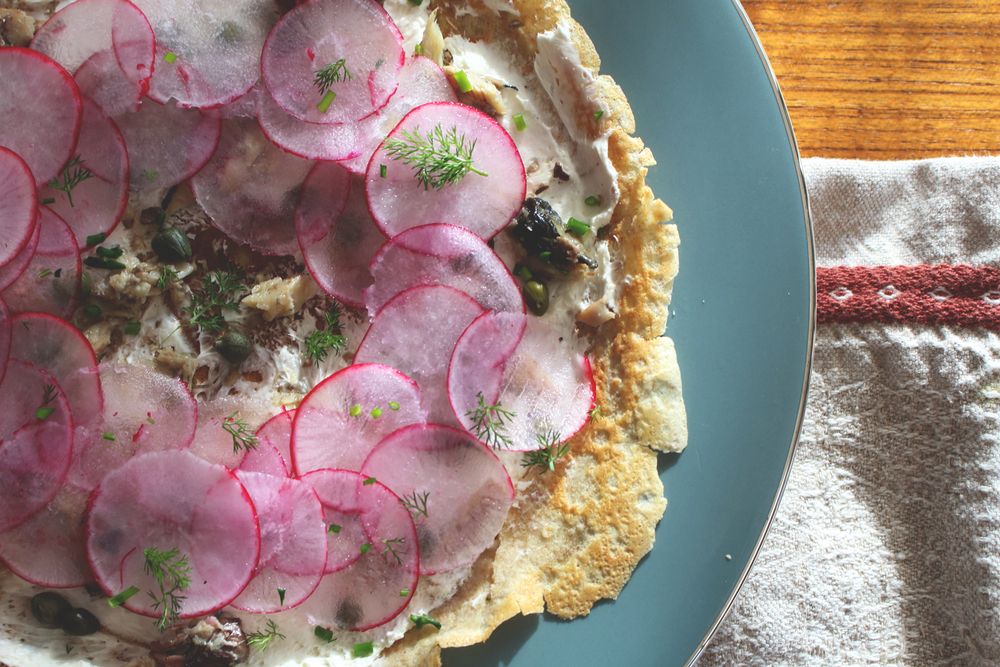 Buckwheat Crepes with Sardines