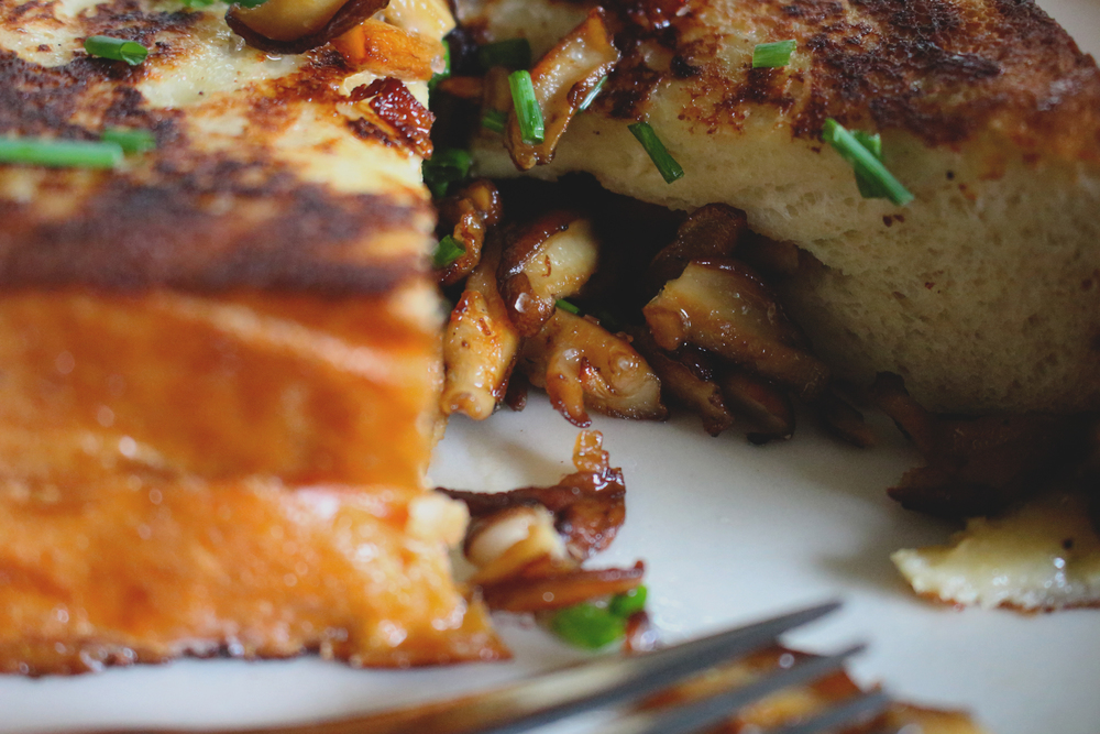 Shiitake Mushroom Stuffed French Toast