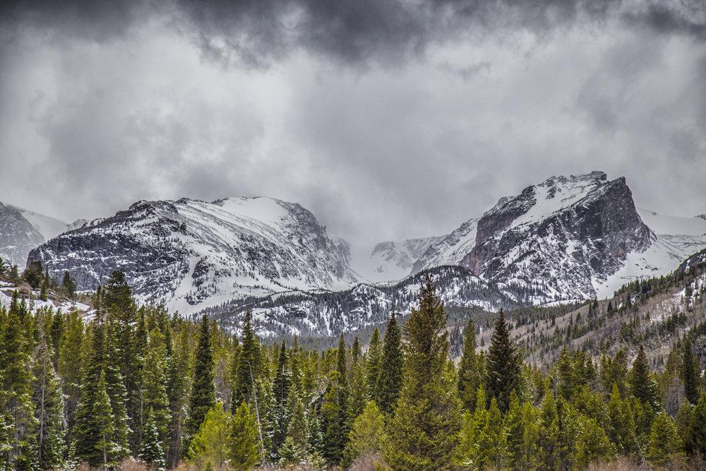 Misty Colorado Mountains
