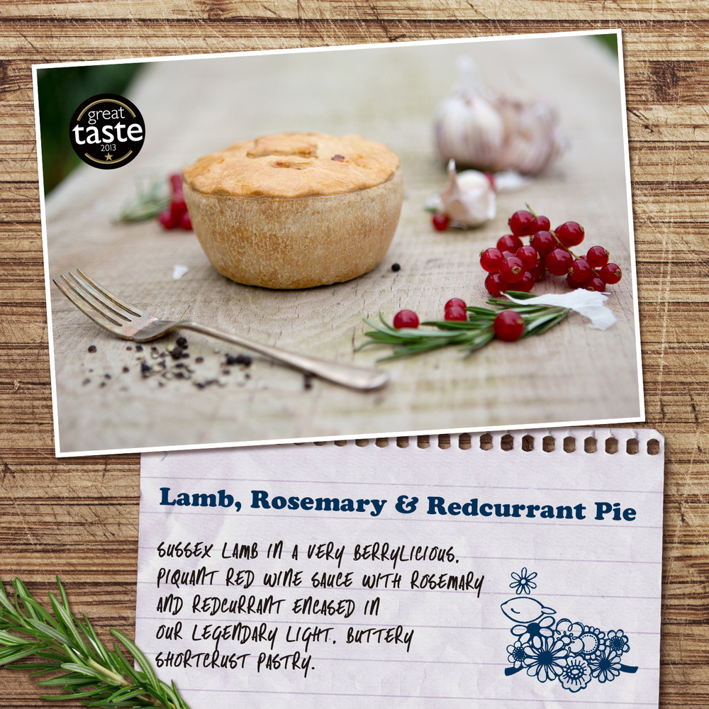 Lamb, Rosemary & Redcurrant Pie