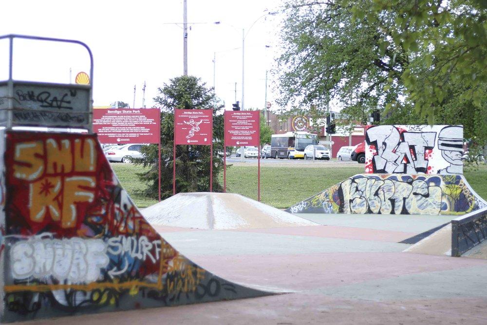 Bendigo Skate Park - Street Art Legal Wall
