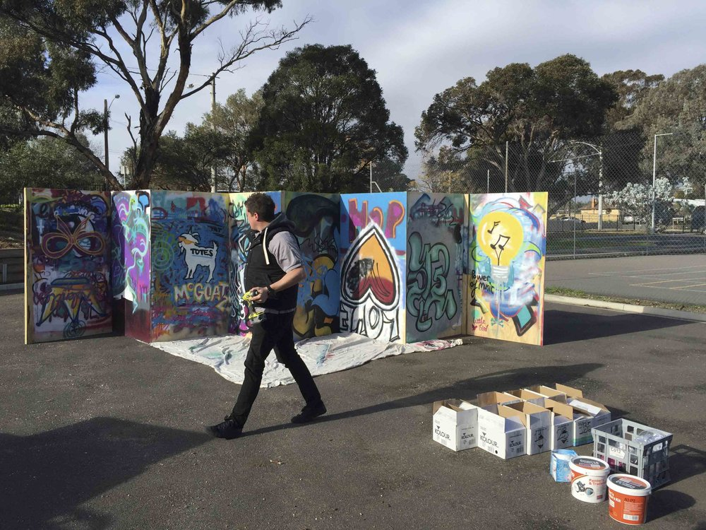 Aerosol Control Graffiti Workshop Weeroona College Bendigo