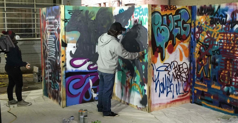 Graffiti workshops allowed our young street artists to refine their skills.