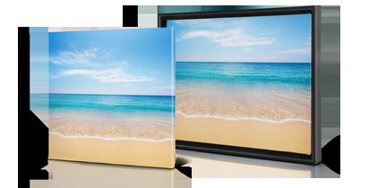 choose between framed or canvas prints