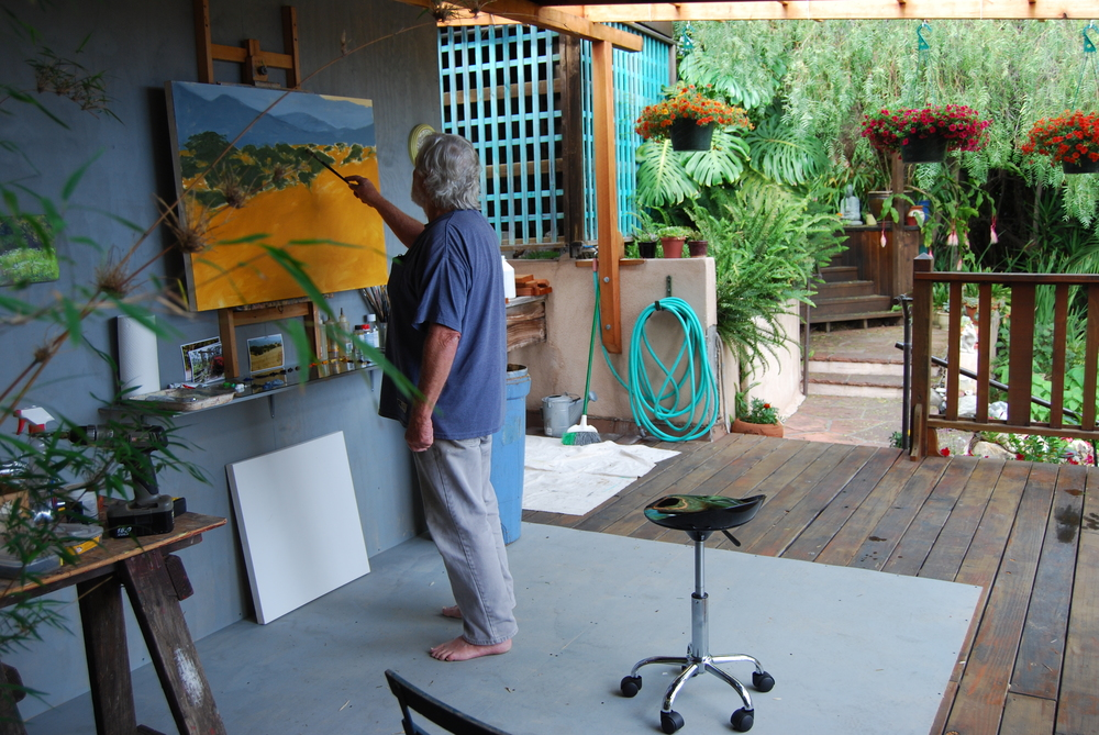 Ben at work in his studio in Santa Barbara, California
