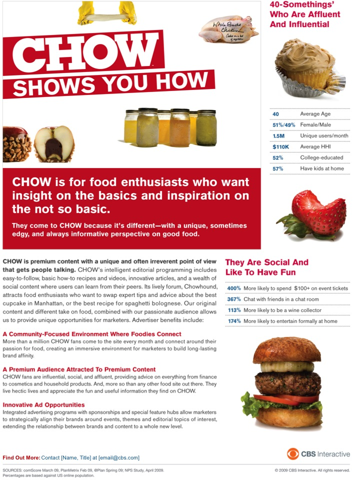 CHOW Brand One Sheet