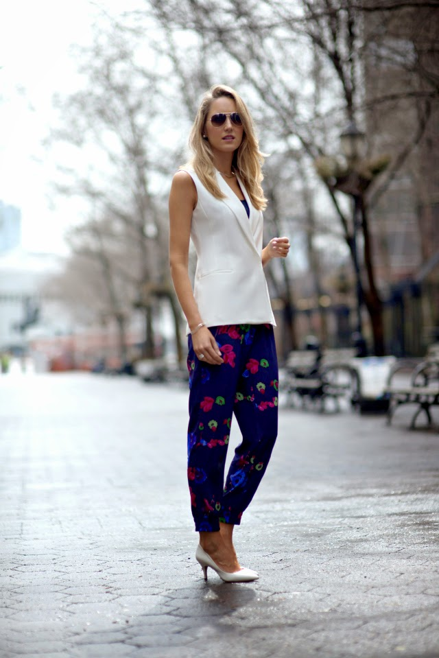 a+theory+white+long+vest+silver+choker+aviator+sunglasses+silk+loose+track+pants+elastic+at+ankles+floral+navy+pink+fuchsia+perwinkle+lime+print+flowers+fashion+blog+street+style+work+wear+office+outfits+.jpg
