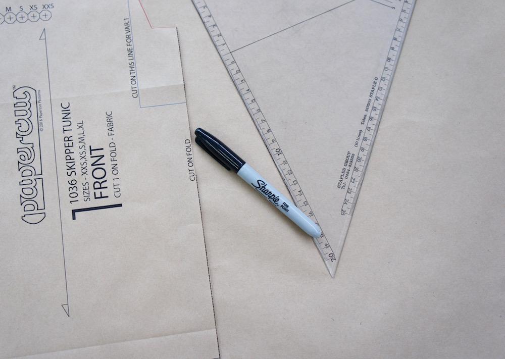 a2c3c4de41337 Skipper Tunic Pleat Hack - Papercut Patterns