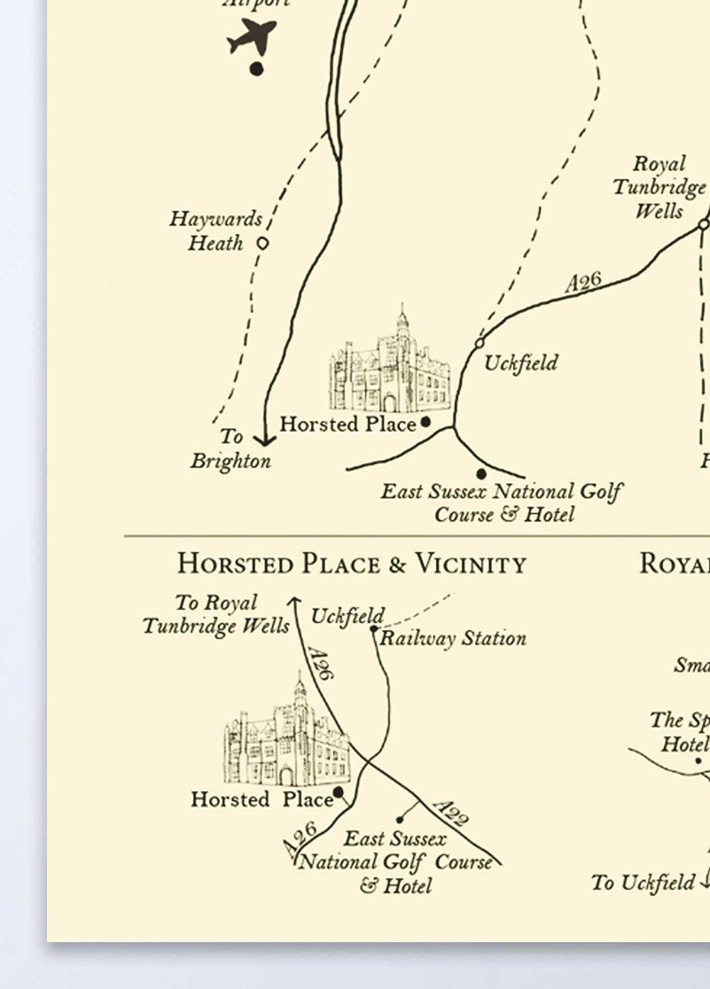 Detailed Wedding Map