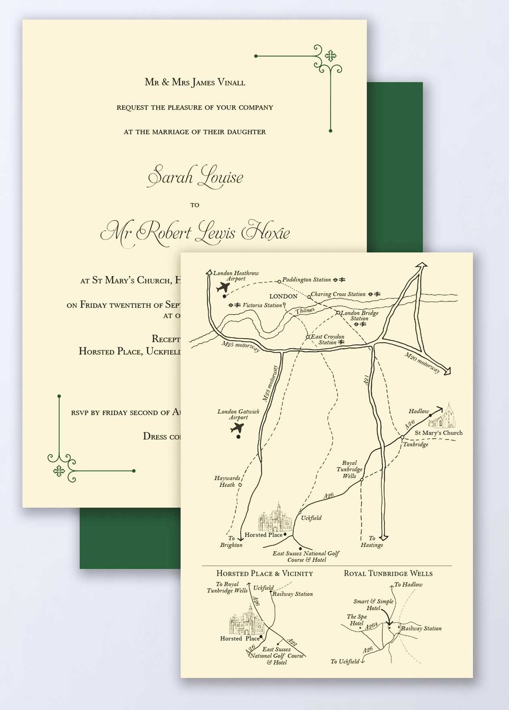 Detailed Wedding Map