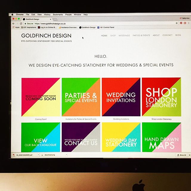 It's taken months, but finally we have a new website! www.goldfinchdesign.co.uk