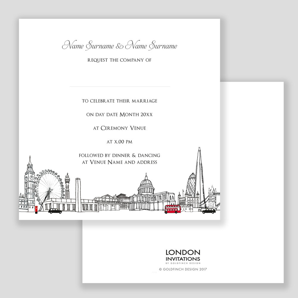 London Landmarks Invitation