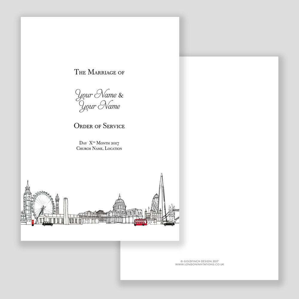 London Landmarks Order of Service