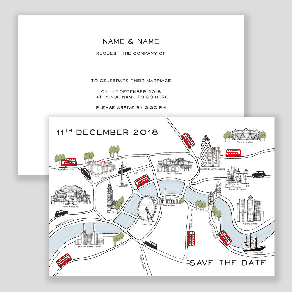 London Map Invitation