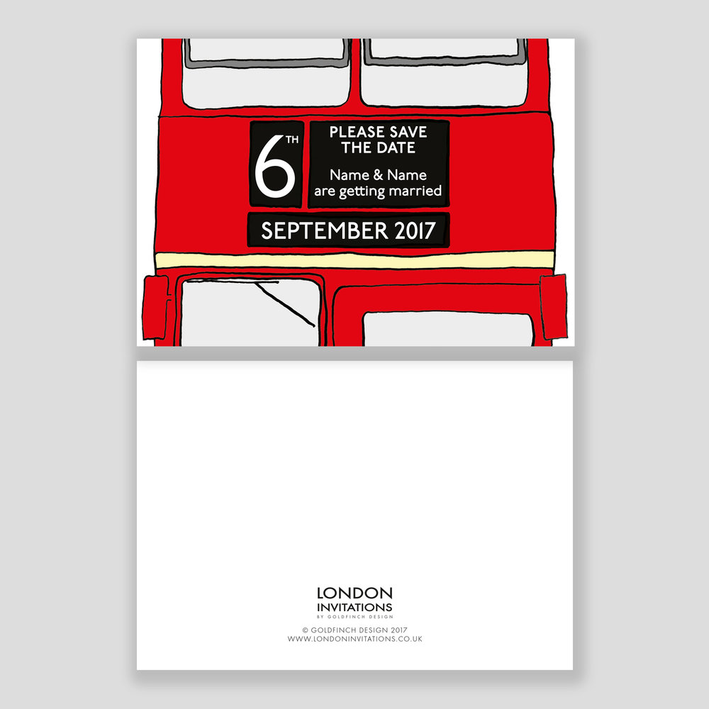 London Bus Save the Date