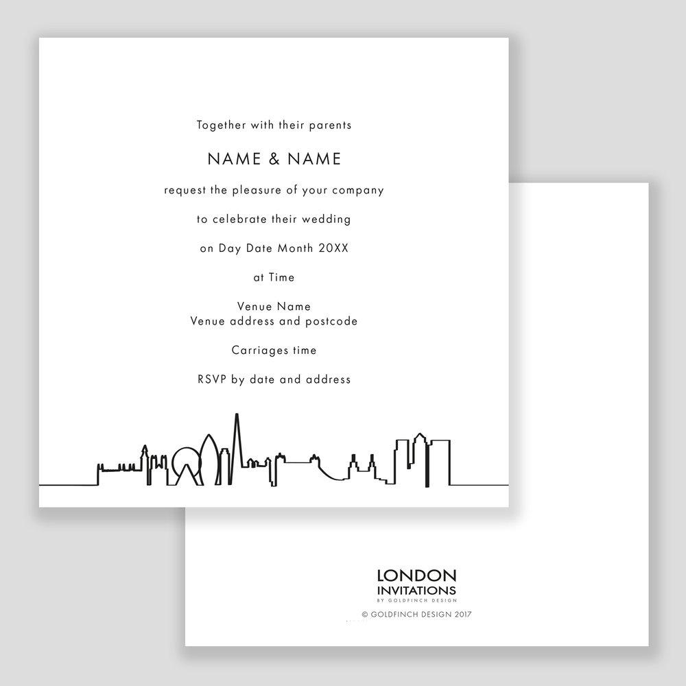 London Outline Invitation