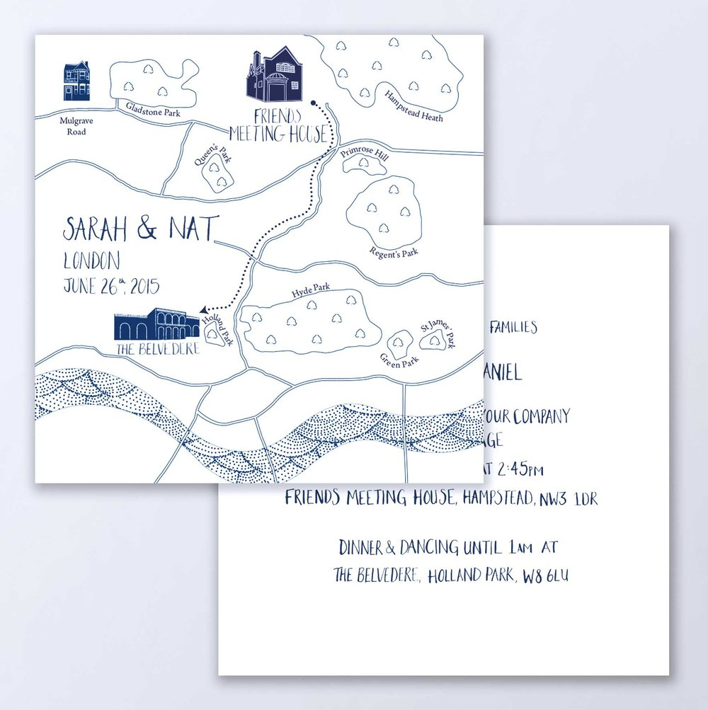 Wedding Map Invitation