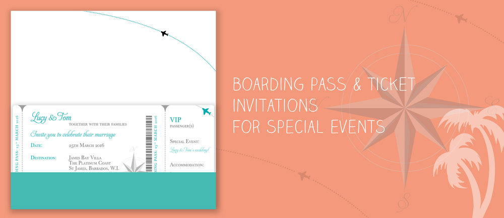 Boarding Pass Wedding Stationery