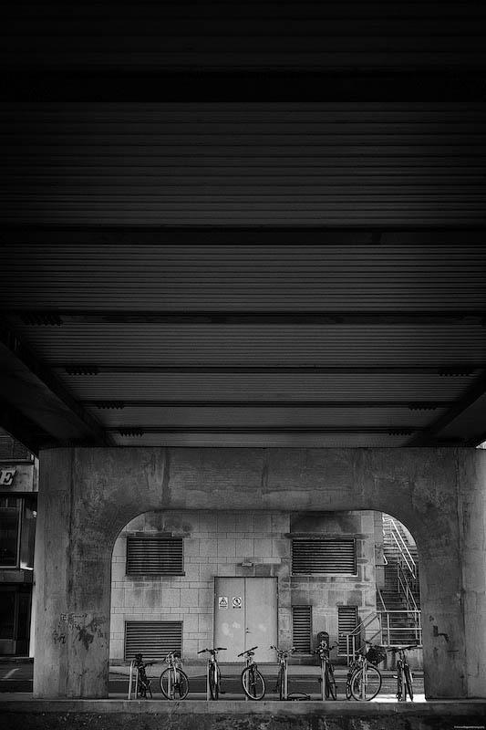 Bikes Under A Bridge