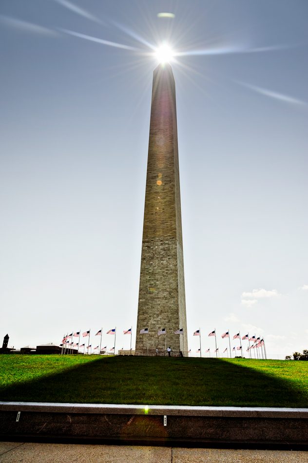 Sun Tipping the Washington Monument, Washington DC