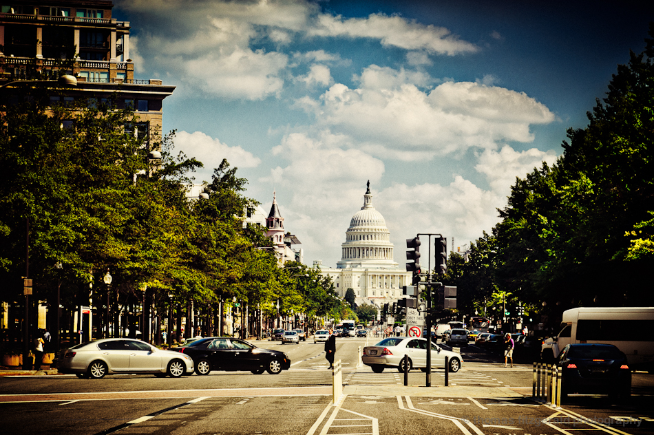 Pennsylvania Avenue, Washington DC, Looking Towards the Capitol