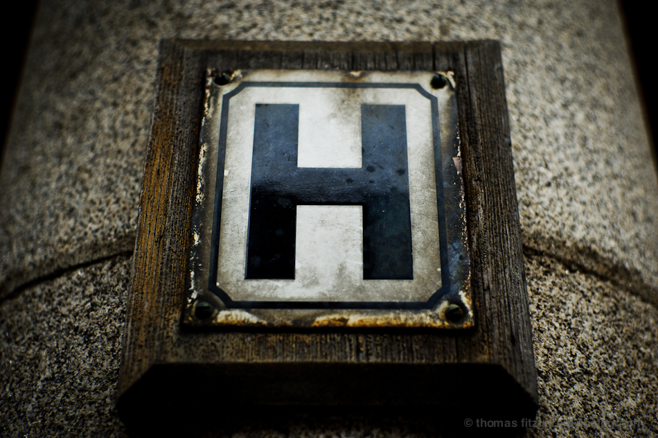 Big H Sign