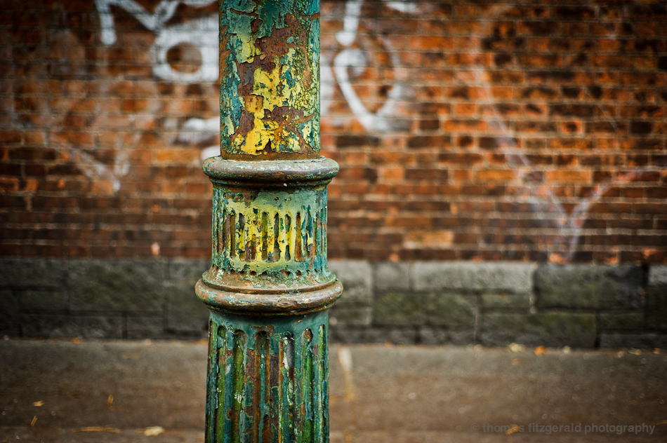 Multicoloured Lamp Post