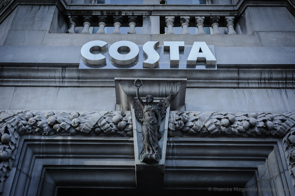 Costa Coffee Entrance on Dawson Street