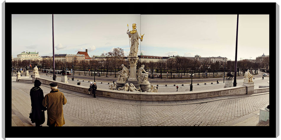 Vienna From The Parliment - A Panorama