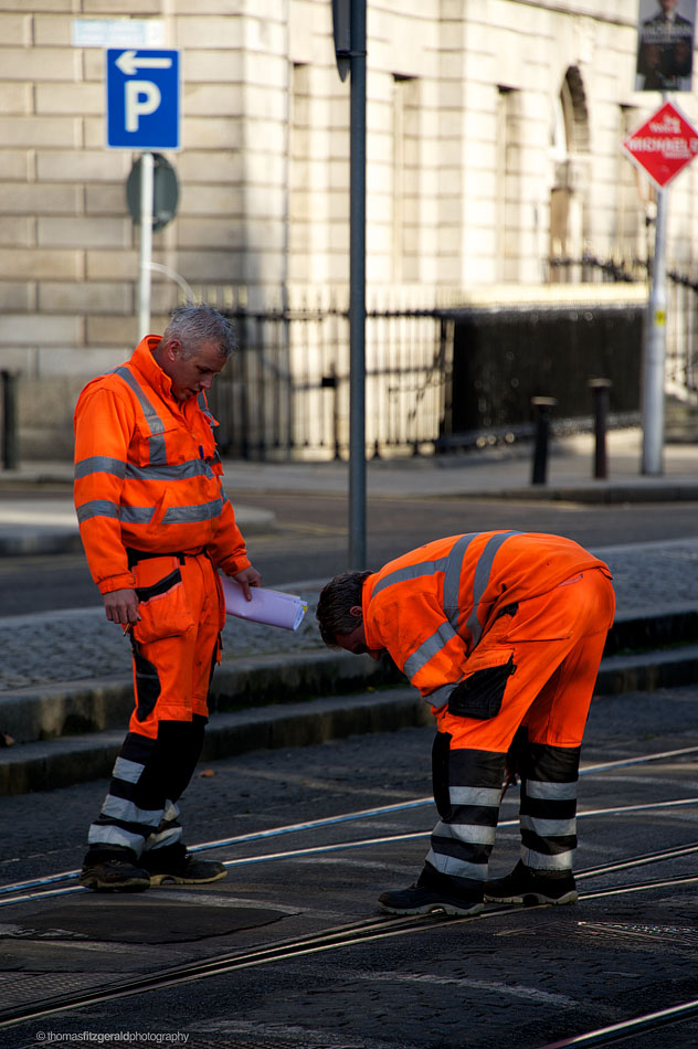 Men Working On Luas
