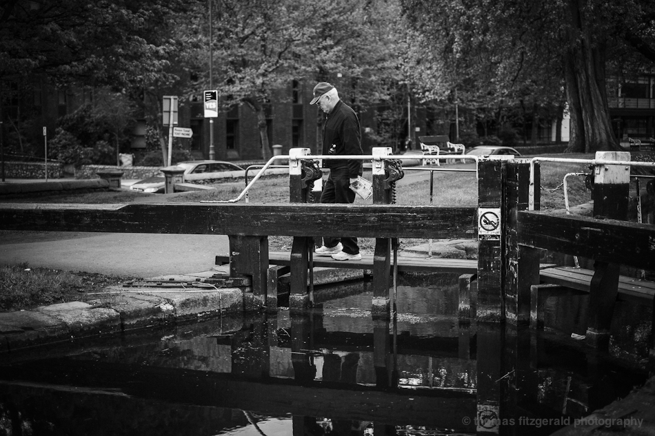 man crossing lock Fujifilm X-Pro1