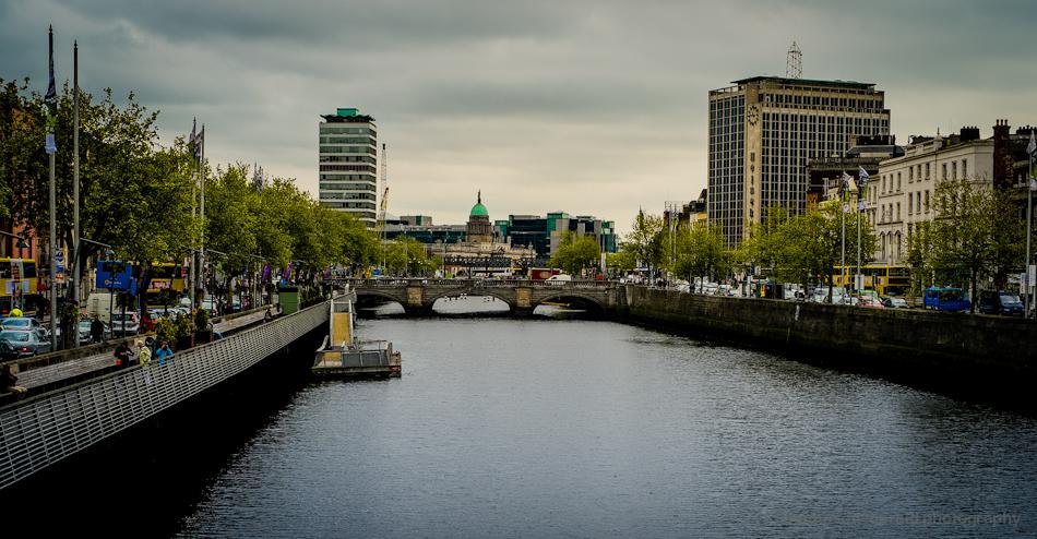 Overcast Dublin By The Liffey