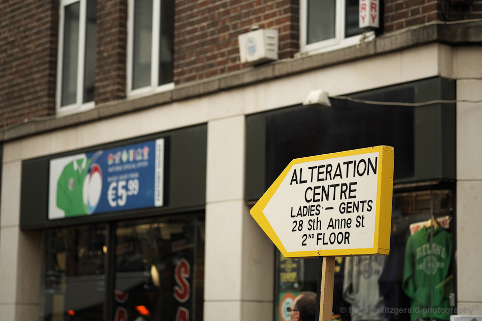 Alteration Centre Sign  - Fuji X-Pro1 and Fujinon 60mm