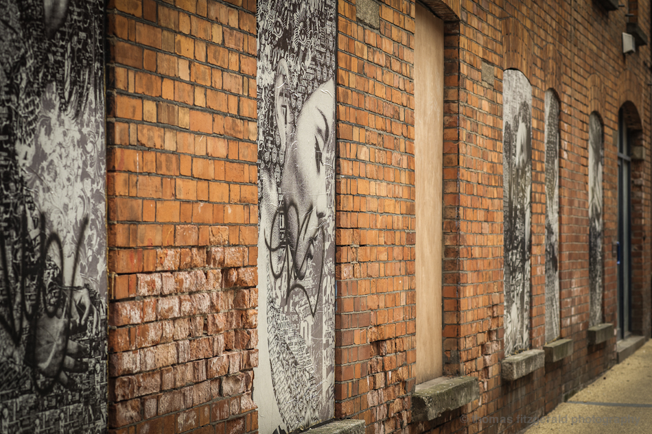 Posters on Boarded Up Building - Fuji X-Pro1 and Fujinon 60mm Macro