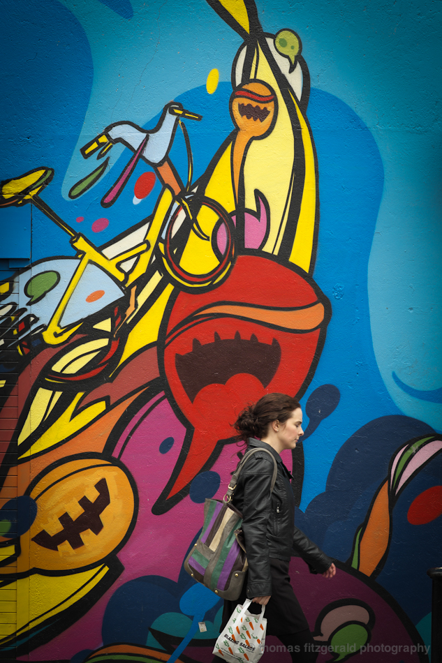 Colourful Slug and Woman - Fuji X-Pro1 and Fujinon 60mm Macro