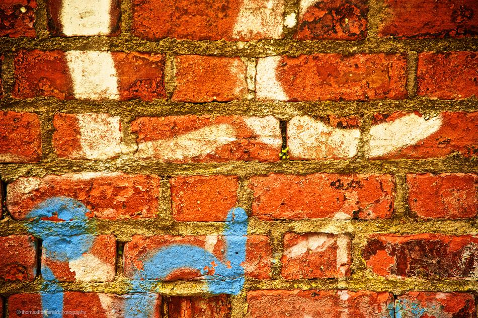Vivid Grafitti on a Brick Wall