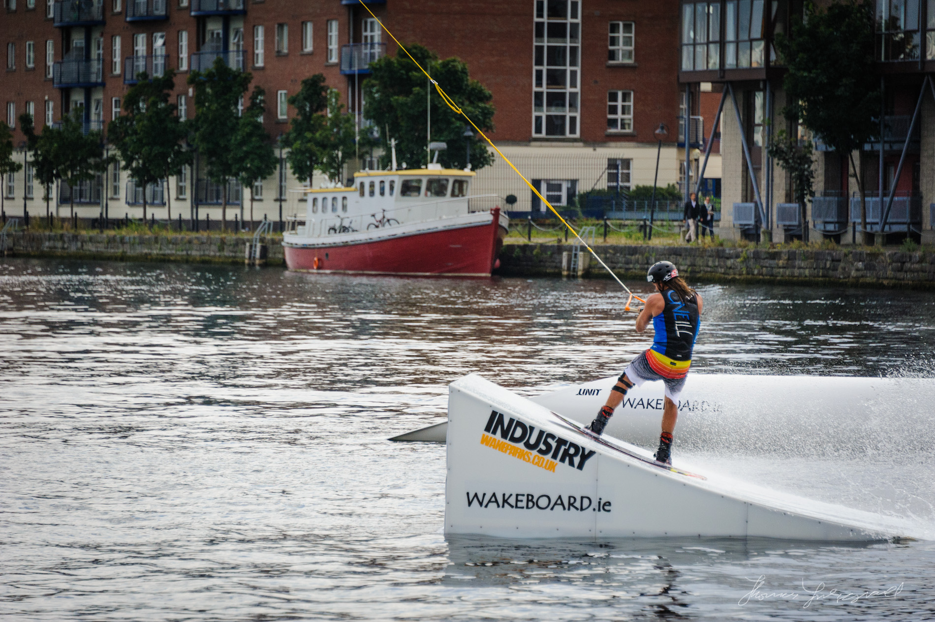 Wake Boarder at the Dublin Tall Ships Festival