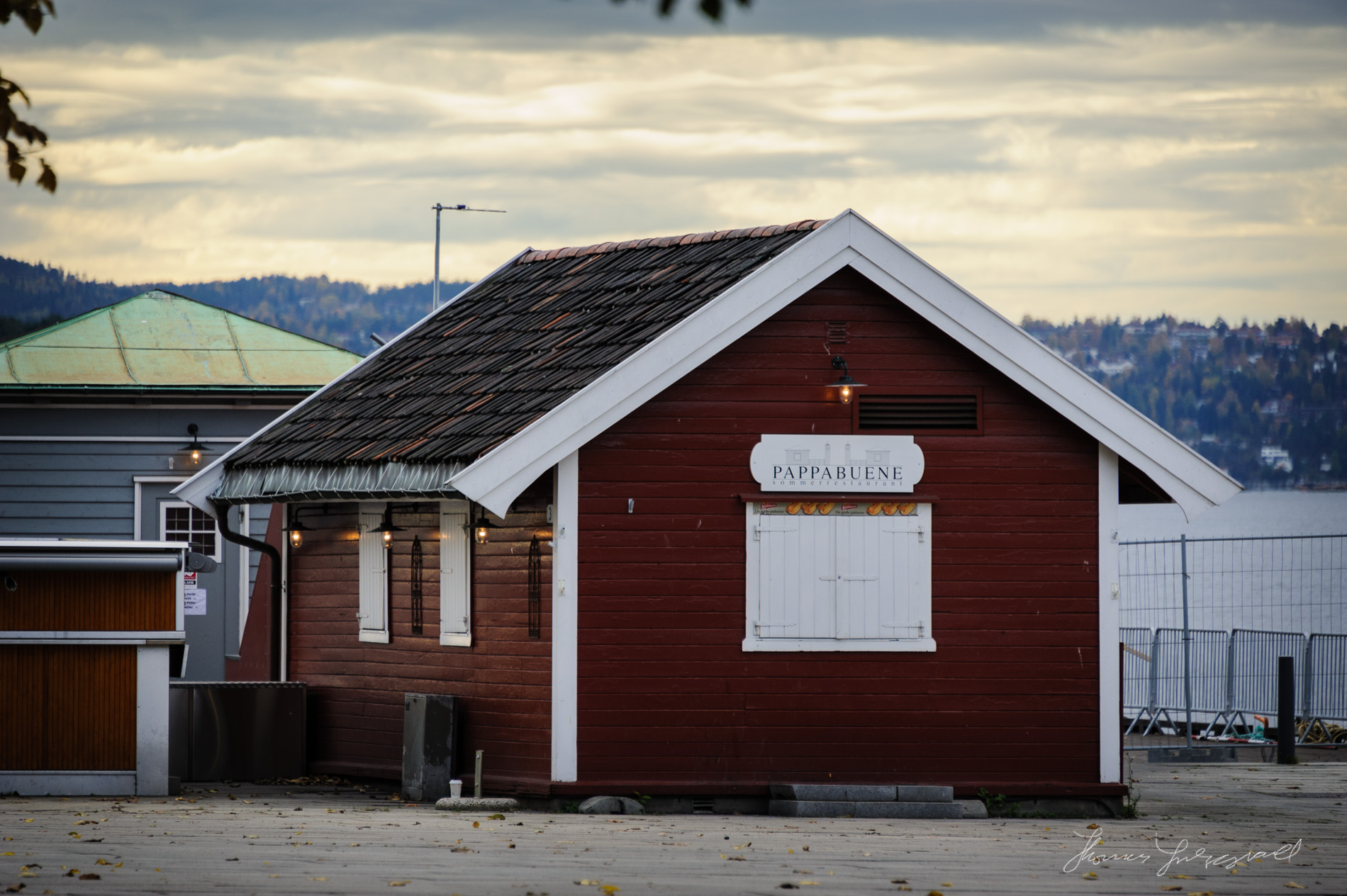 Red Hut in Oslo Harbour