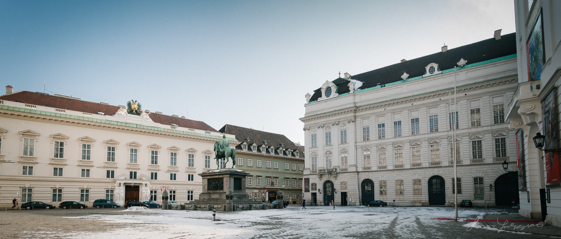 A Snowy Courtyard in  Vienna